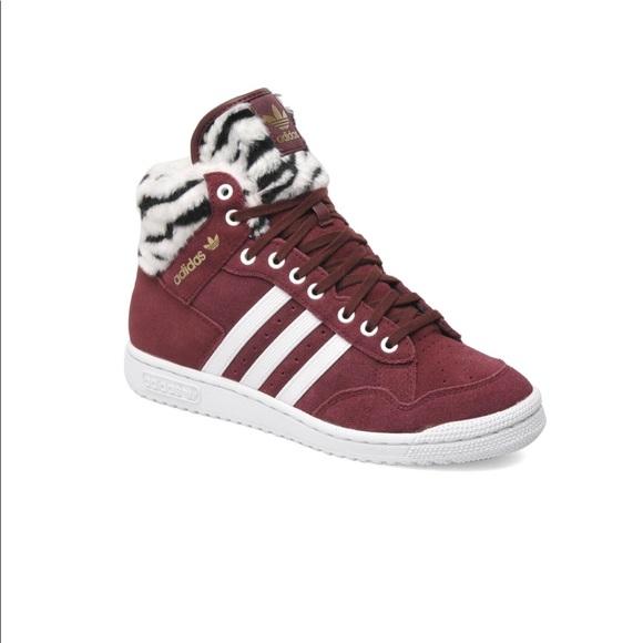 Adidas zapatos Trainer Pro Conferencia Borgoña Trefoil 55 poshmark